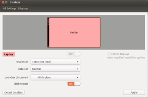 Display Application in Ubuntu